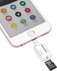 コンパクトなmicroSDカードリーダー!これで、iPhoneでもSDカードが使える!
