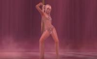 もうすでにぽろり済み!?ぎりっぎりです!水着(紐)を着たロリ娘の妖艶なポールダンス!DOAX3 マリー・ローズ動画!