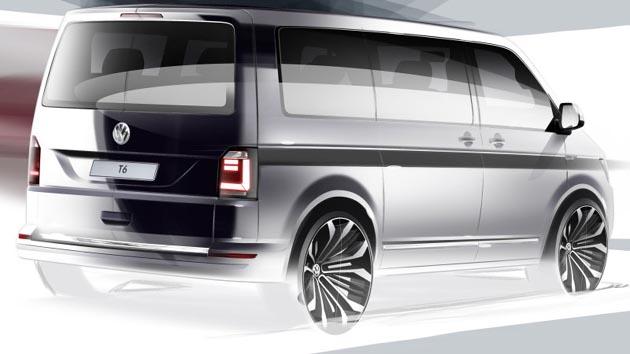 フォルクスワーゲン、次世代トランスポーター「T6」のティーザー画像を公開!!