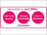 【速報】UQ mobileが通話定額付きで月額1980円の「おしゃべりプラン」提供へ、無料通話3倍も