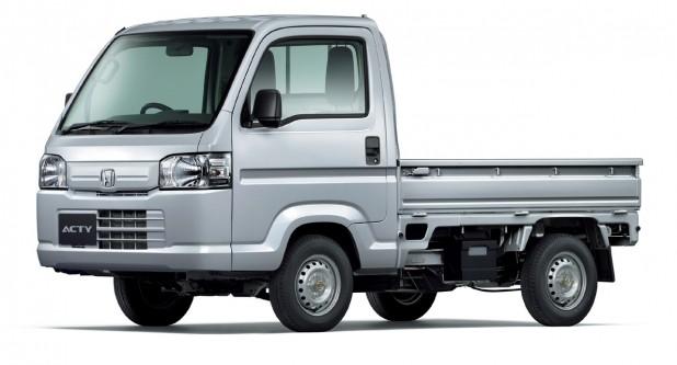 ホンダのミッドシップ2シーター「アクティ・トラック」が燃費改善、価格は79万円から