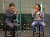 Apple 表参道で、実業家の本田直之氏と登山家の栗城史多氏のトークイベントが開催
