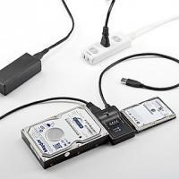 サンワダイレクト、PCレスでストレージをコピーできる変換ケーブル
