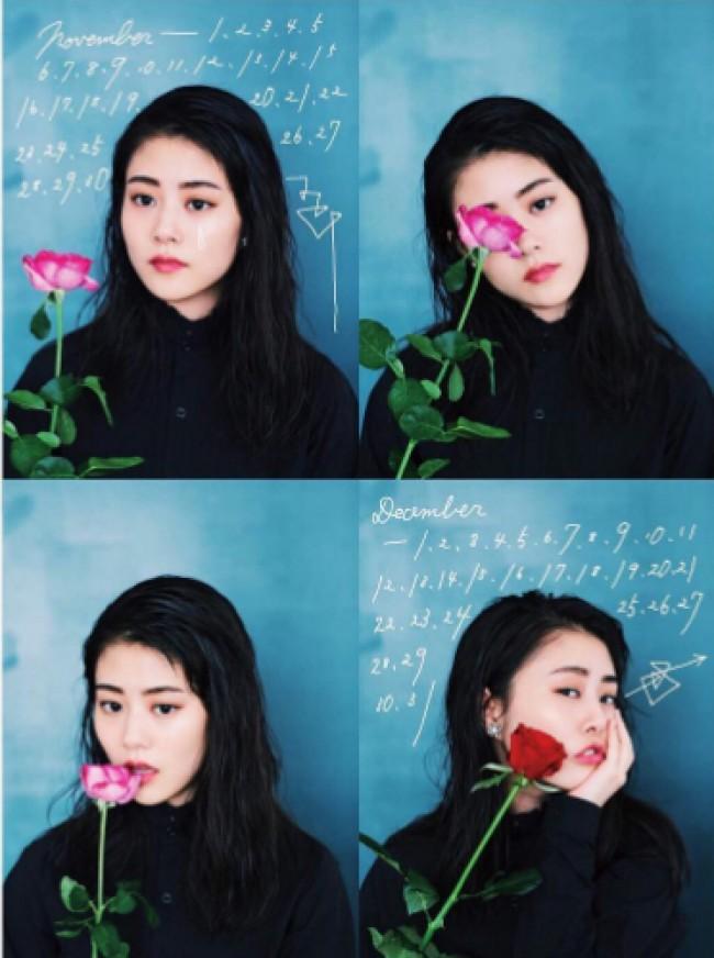 バラを持つ高畑充希さんの高画質な画像
