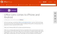 Microsoft「Office Lens」iOS版とAndroid版をリリース
