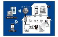 アプリで安全確認!無線LAN中継機を兼ねる簡単ネットワークカメラ