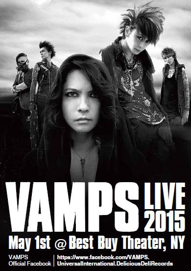 VAMPSニューヨーク公演「VAMPS LIVE 2015 NY」発表