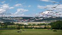 8時間ぶんの離着陸を1枚に収めた「Airportraits」写真シリーズ公開。約2年間で世界の空港を撮影
