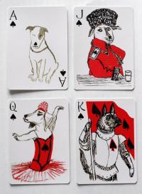 イヌのイラスト入りトランプ『PACK OF DOGS/Playing Cards』(米Inky-Dinky)。