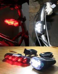 うっかりやさんのための自動点灯機能付き自転車ライト