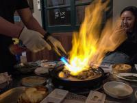 「ファイヤー焼肉」を食べに日帰りで韓国へ行く