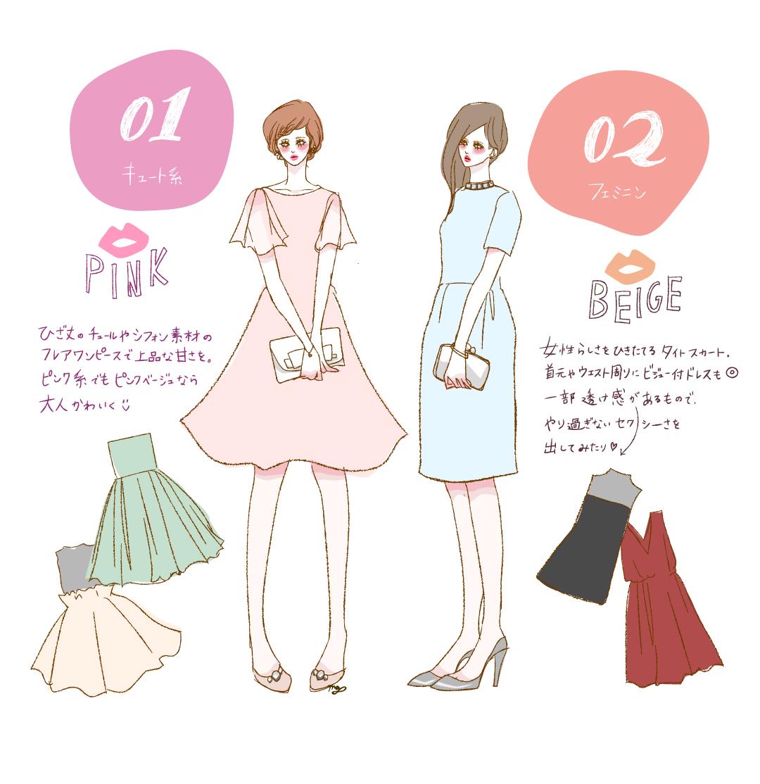 結婚式やパーティのお呼ばれに! ng&goodコーデ集【イラスト