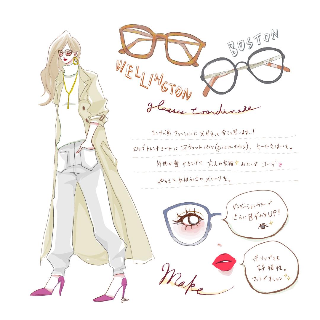 自分に合ったメガネを見つけておしゃれに! イメージ別メガネコーデ