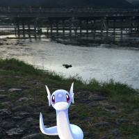 「ポケモンGO」京都嵐山編。桂川でレジェンド級トレーナーに遭遇