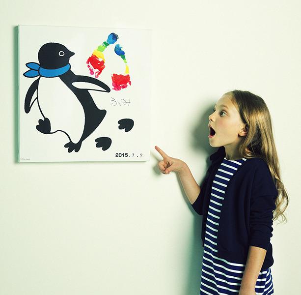 ペンギンと成長しよう!Suicaペンギン描いた坂崎千春が伊勢丹でアート作品を販売