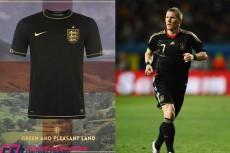 王者ドイツにあやかって? イングランド代表が新たなアウェイユニフォームに黒を初めて採用か