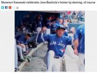 【米国はこう見ている】川崎宗則が味方の本塁打に特技披露 「カワサキが祝福、もちろんダンスで」