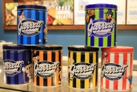 ポップコーンの「ギャレット」がセ・リーグ6球団と限定コラボ缶販売