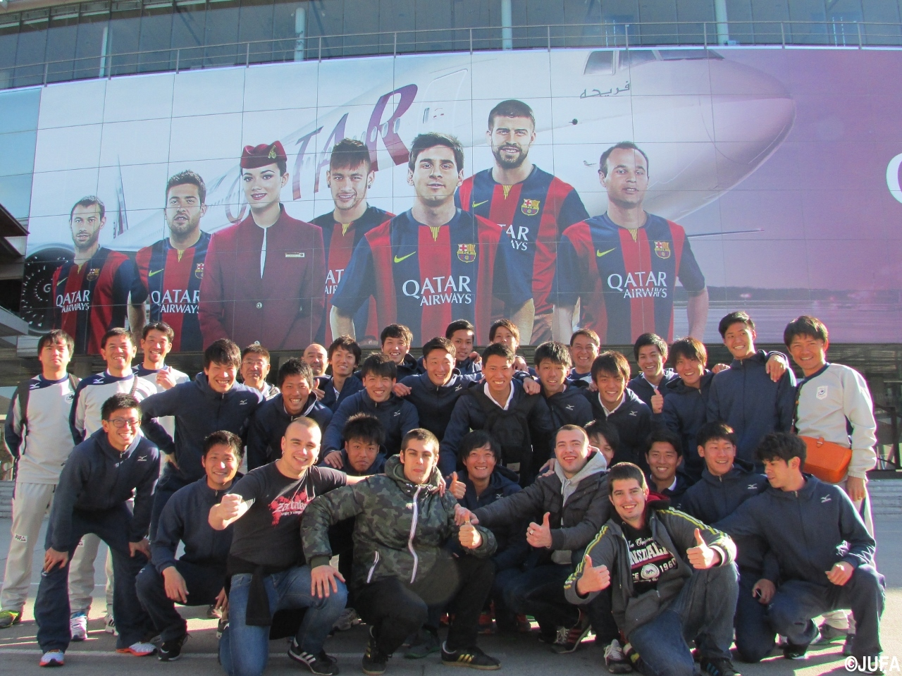全日本大学選抜バルセロナ遠征、カンプノウ見学で記念写真も(16枚)