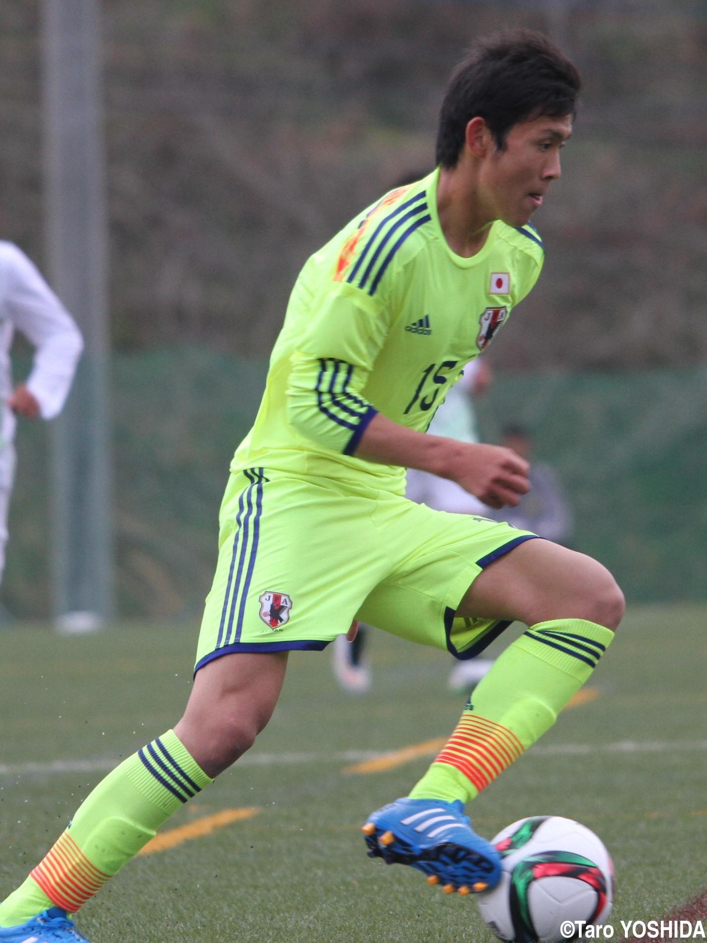 U-17日本代表で存在感示した快足レフティー、FW田川(4枚)
