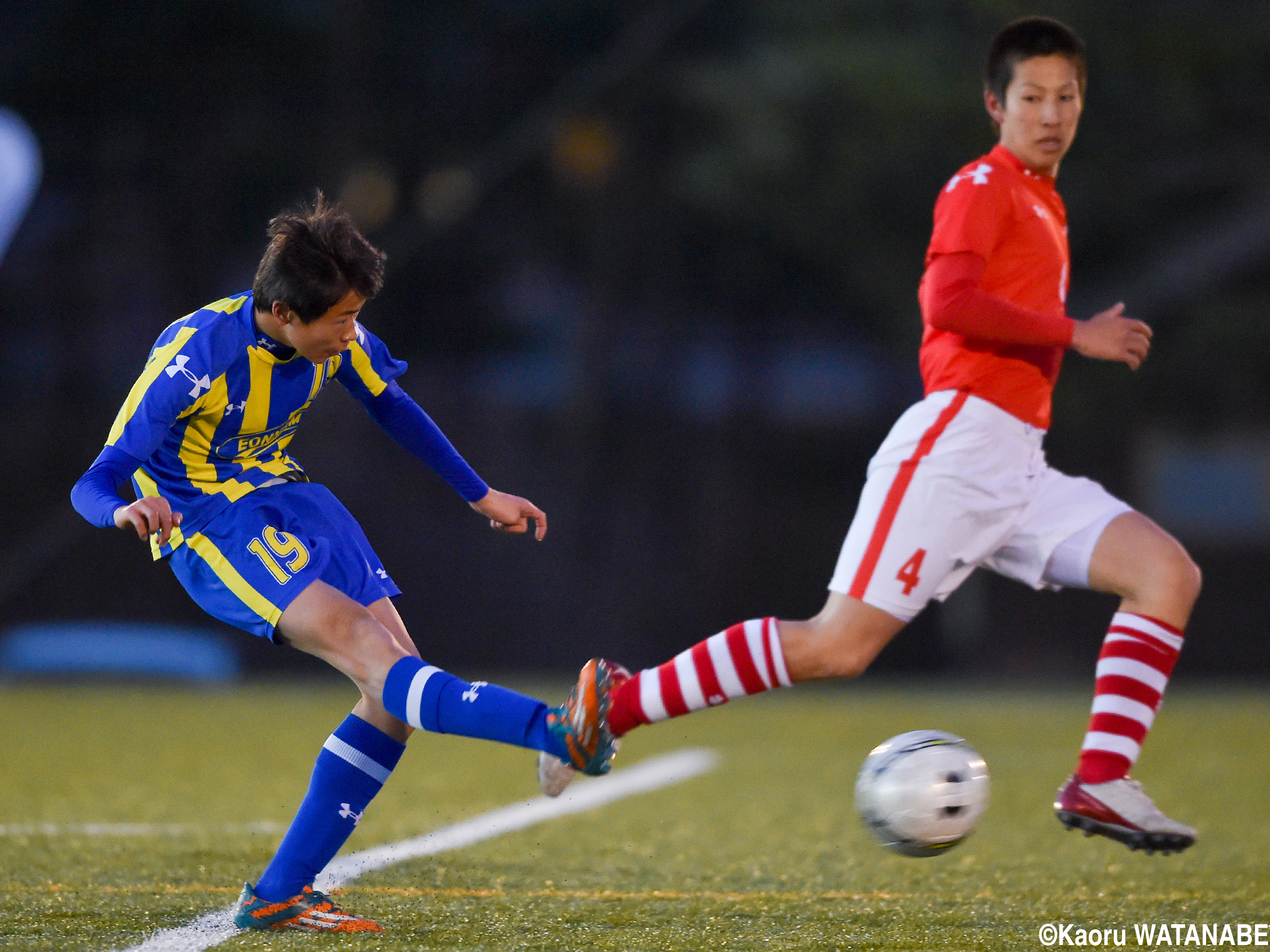 [UAチャレンジカップ]韓国王者・彦南が名門・秋田商に4ゴールで攻め勝つ(16枚)