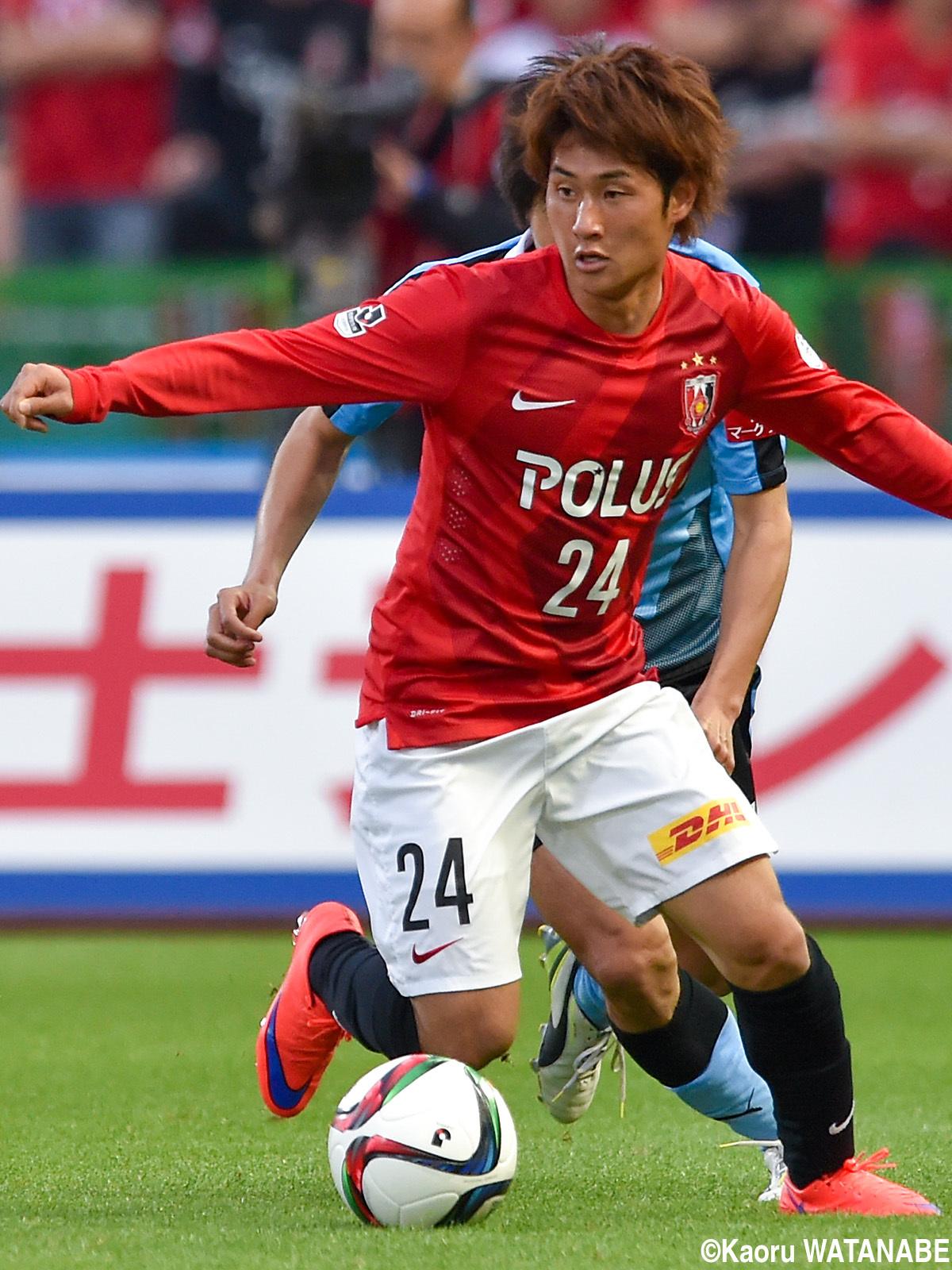 2戦連続で先発出場を果たした浦和のドリブラー関根(4枚)