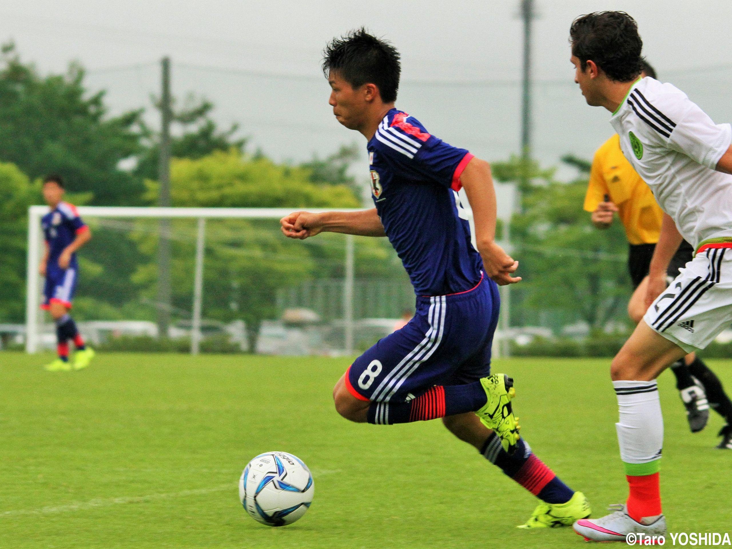 [国際ユースサッカーin新潟]試合の軸傾けるファインプレー、U-17代表MF黒川の「勝負」が2点目生み出す
