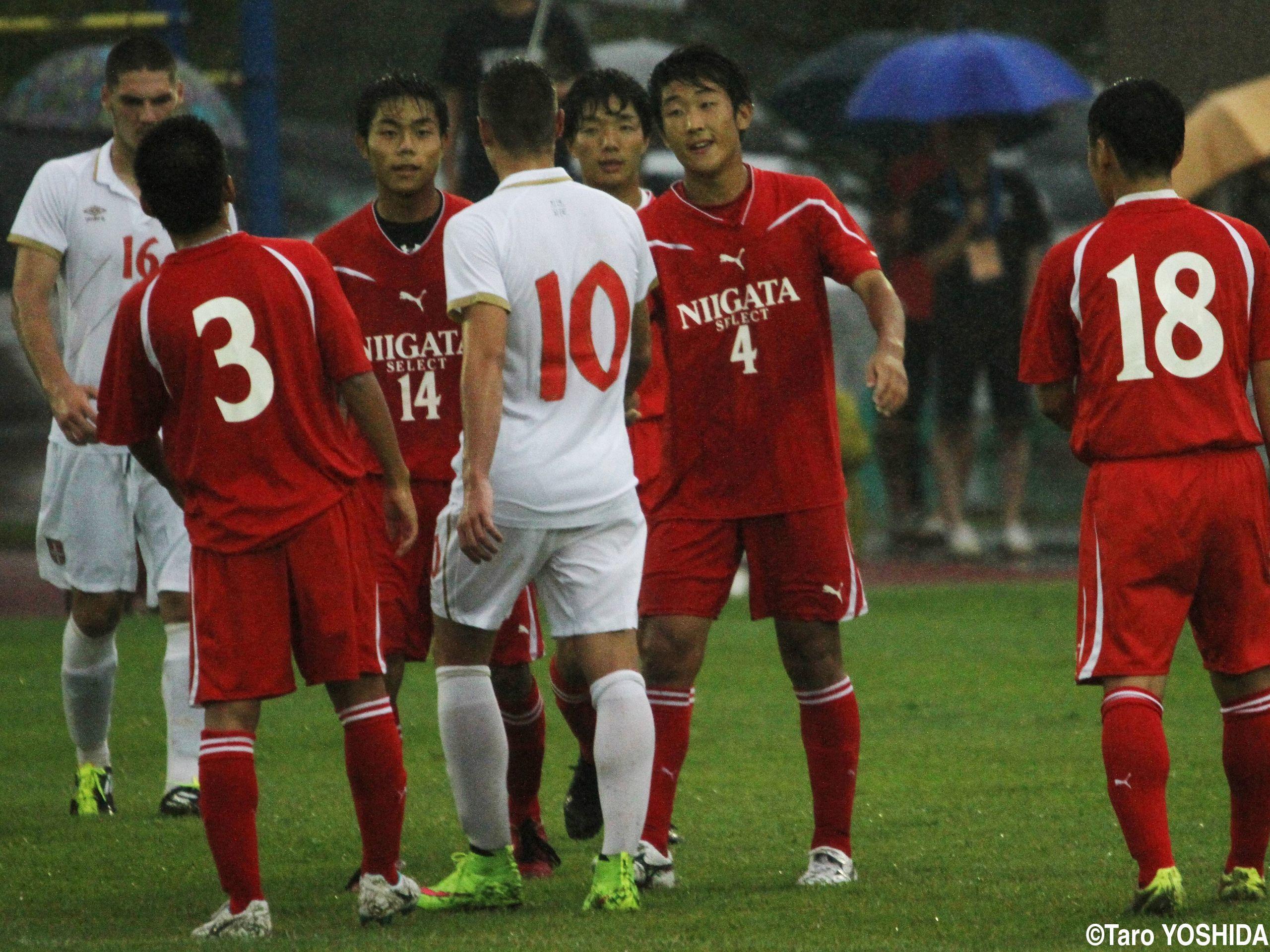 [国際ユースサッカーin新潟]U-17新潟選抜がセルビアに逆転勝ち!4連勝中のU-17日本代表との「真剣勝負」へ