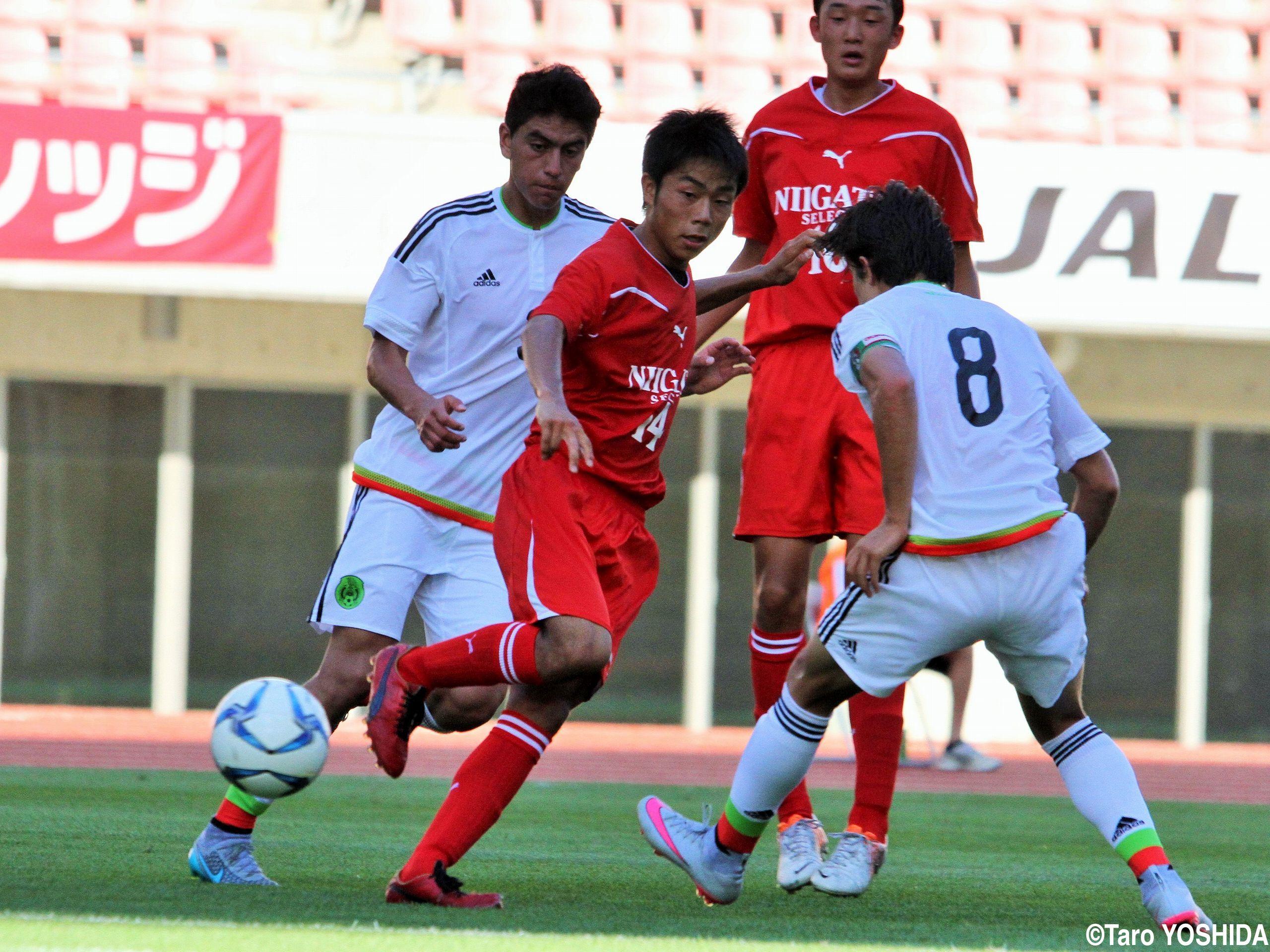 [国際ユースサッカーin新潟]メキシコに0-3敗戦も、最後までレベルアップ続けたU-17新潟選抜