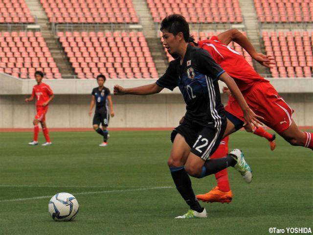 [国際ユースサッカーin新潟]U-17代表の注目ドリブラー・静岡学園MF渡井は悔しい3試合に、全国総体での再アピール誓う
