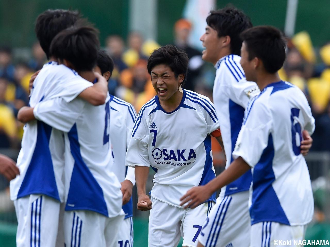 [国体少年男子]歓喜の抱擁、大阪府が歴史を変える決勝戦へ(8枚)