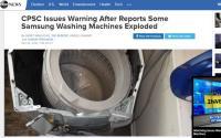 Samsungの洗濯機が爆発、蓋がふっ飛ぶ。米政府から警告発出