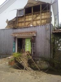 鳥取県中部でM6.6 蔵の町 倉吉で土蔵の壁崩れる