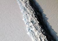 南極から栃木県大の氷が消える? 棚氷の亀裂の広がりを上空から撮影