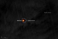 西之島 オレンジの溶岩流 NASAの衛星も見ていた!