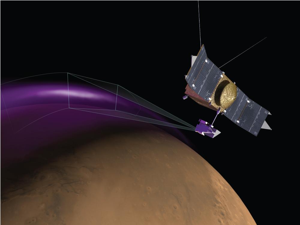 火星にもオーロラ NASA探査機が観測 上空にちりの雲も出現