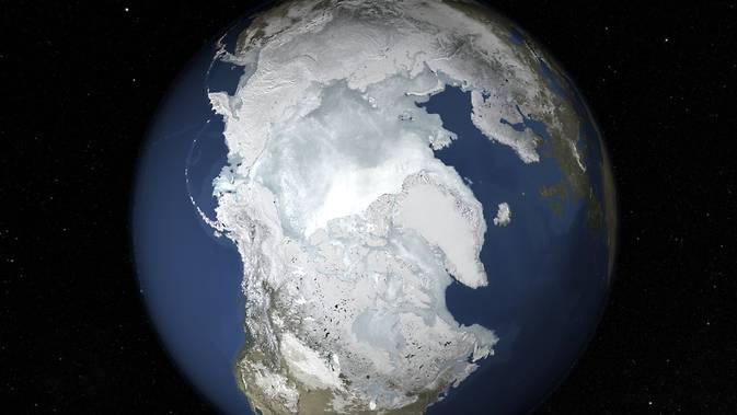 今冬の北極 海氷面積が史上最小に 温暖化の影響で減少