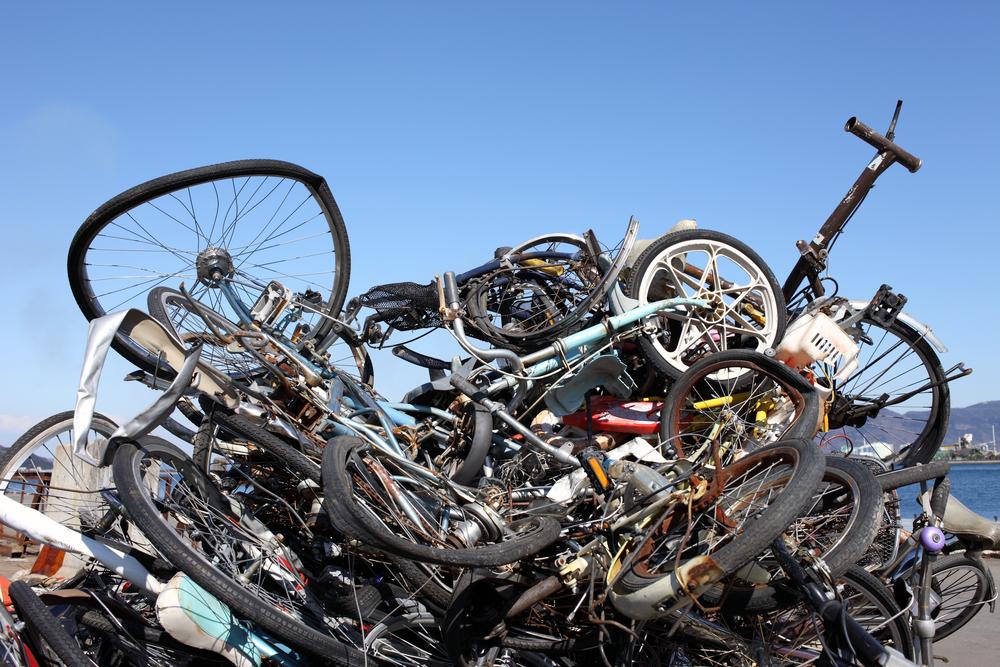 捨ててある自転車であっても ...