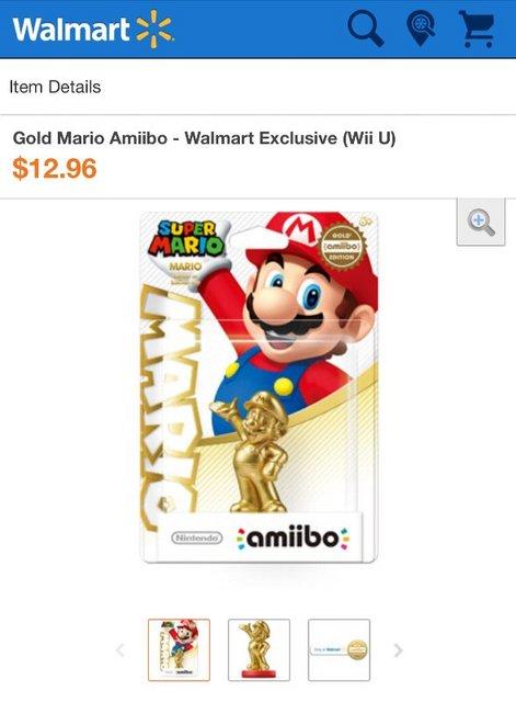 ゴールドマリオのamiiboが米国ウォルマート限定で発売 ― 予約開始するも15分で完売