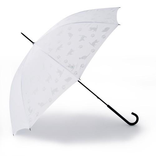 雨の時はもちろん、晴れでも使って楽しめる ネコの色が変わる傘