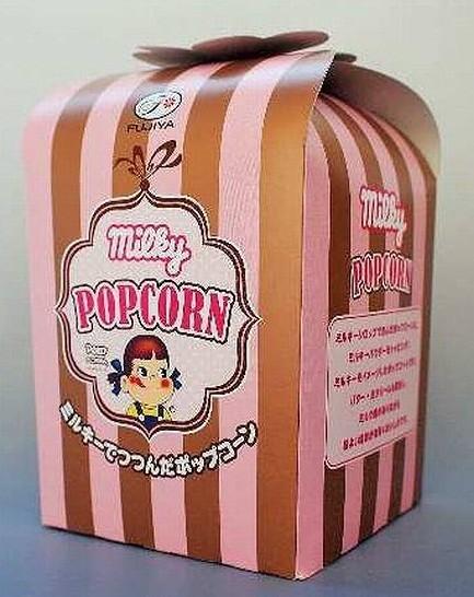 不二家とコラボした「ミルキーポップコーン」 ローソンの大人向け高級菓子シリーズ