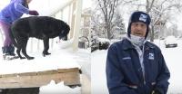 いつも尻尾を振って出迎えてくれる老犬のために。郵便配達員が玄関に手作りのスロープをプレゼント(アメリカ)