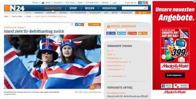 アイスランド、EUへの加盟申請を撤回