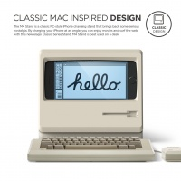 Apple製品好き必見!レトロデザインiPhoneスタンド
