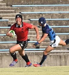 <高校選抜ラグビー>東筑 Jジャパンの中野が突破力を発揮