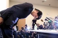 <宮崎衆院議員>辞職表明 不倫疑惑、会見で謝罪