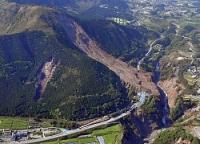 <熊本地震>阿蘇大橋の西側でも崩壊