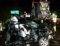 <山陽道>多重衝突、親子3人死亡…トラック運転手逮捕へ