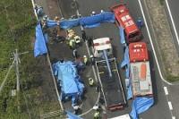 <交通事故>軽とバイク衝突し炎上、4人死亡 群馬・太田