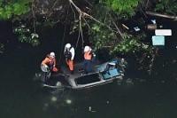 <事故>ダムに車転落、5人死亡…バーベキュー帰り 大阪